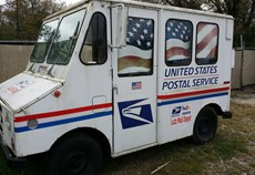 Our OWN Little Postal truck!